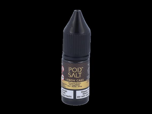 Pod Salt Fusion - Lemon Cake - E-Zigaretten Nikotinsalz Liquid 20mg/ml
