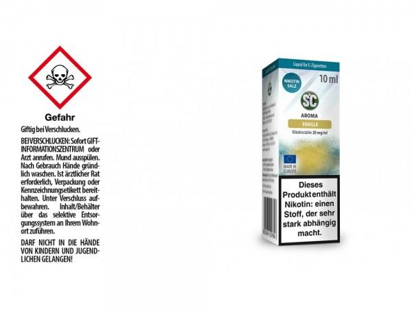 SC - Vanilla - E-Zigaretten Nikotinsalz Liquid 20 mg/ml
