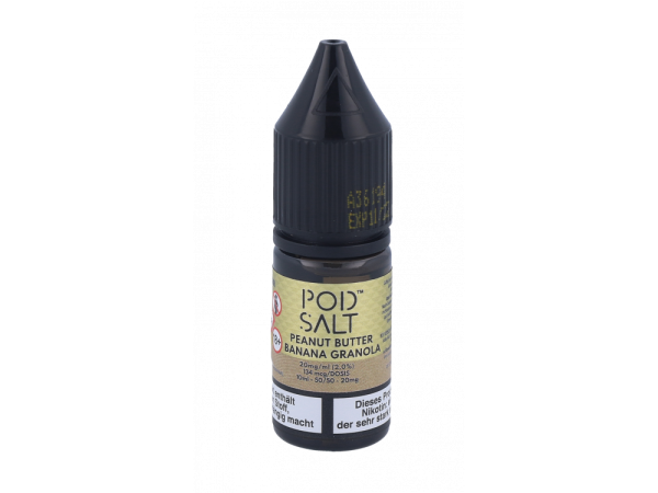 Pod Salt Fusion - Peanut Butter Banana Granola Bar - E-Zigaretten Nikotinsalz Liquid 20mg/ml